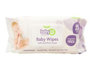 BABY U BABY WIPES 80 PACK - Click to enlarge