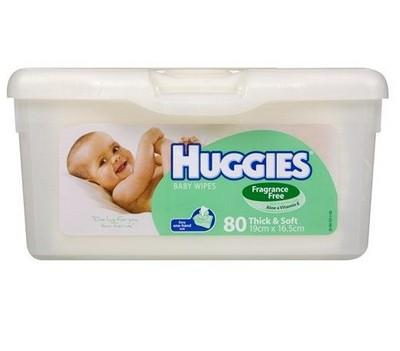 HUGGIES WIPE TUB UN/SCNT 80 - Click to enlarge