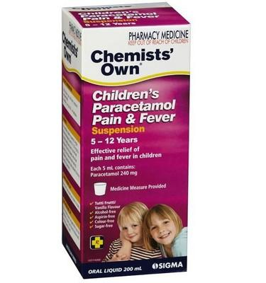 CO PARACETAMOL 5-12YR 100ML(2) - Click to enlarge