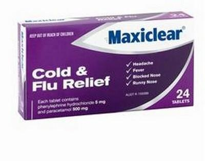 MAXICLEAR COLD/FLU RELIEF 20's - Click to enlarge