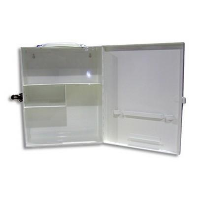 FIRST AID CAB METAL 25X31X12CM - Click to enlarge
