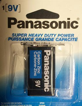BATT PANASONIC 9V SHD 1PK - Click to enlarge