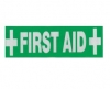 FIRST AID STICKER 28cm x 4cm. - Click for more info
